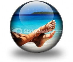 Sandy Feet PowerPoint Icon C