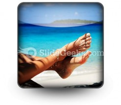 Sandy Feet PowerPoint Icon S