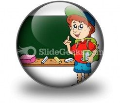 School Boy PowerPoint Icon C