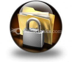 Secure Files PowerPoint Icon C