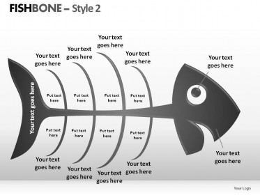 Fishbone Style 2 PowerPoint Presentation Slides