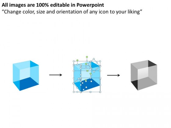 3d Cubes Stacked In Semicircle PowerPoint Presentation Slides