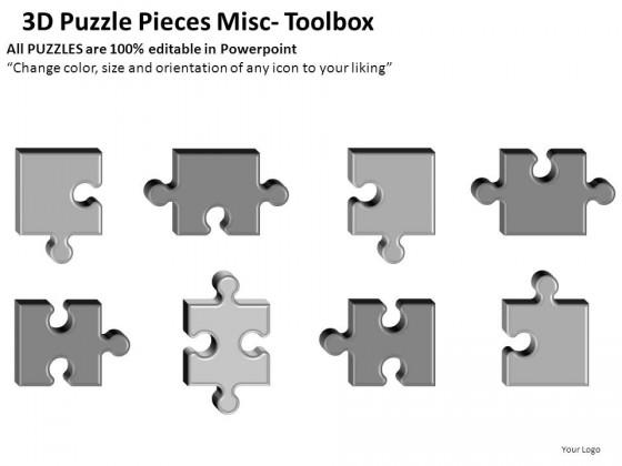 puzzle pieces misc powerpoint presentation slides, Powerpoint templates