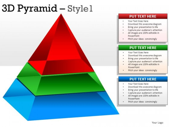 3d Pyramid Style 1 PowerPoint Presentation Slides
