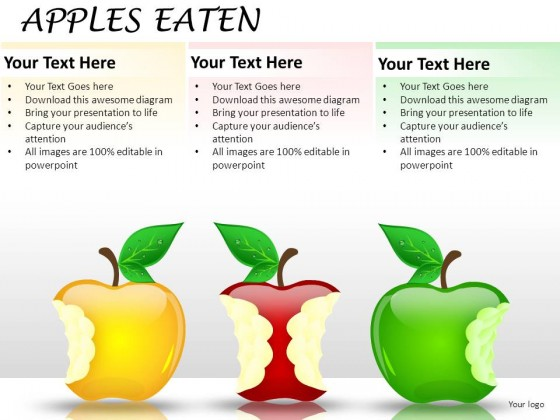Apples Eaten PowerPoint Presentation Slides