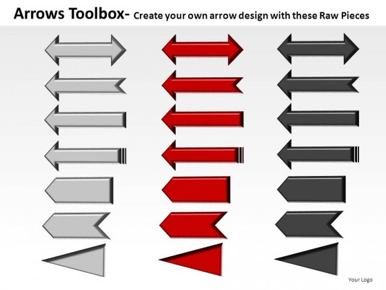 Arrows Toolbox PowerPoint Presentation Slides
