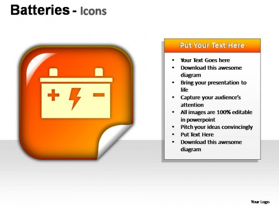Batteries Icons PowerPoint Presentation Slides