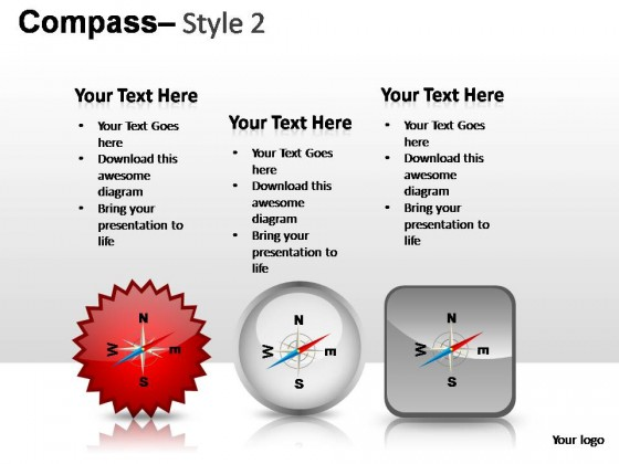 Compass Style 2 PowerPoint Presentation Slides