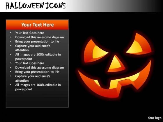 halloween icons powerpoint presentation slides