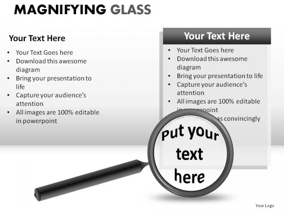 Magnifying Glass PowerPoint Presentation Slides