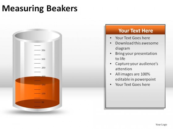 Measuring Beakers PowerPoint Presentation Slides