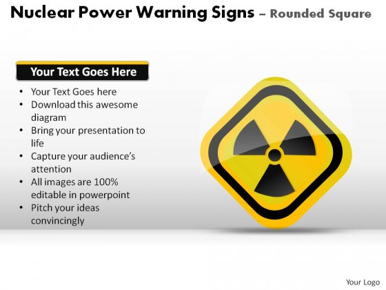 Nuclear Power Warning Signs Square Powerpoint Presentation Slides