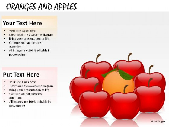 Oranges And Apples PowerPoint Presentation Slides