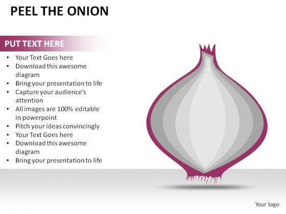 Peel The Onion PowerPoint Presentation Slides