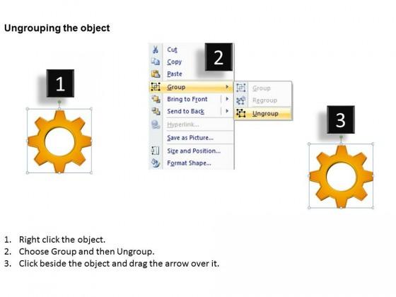 Powerpoint template business circular gears process ppt slides toneelgroepblik Gallery