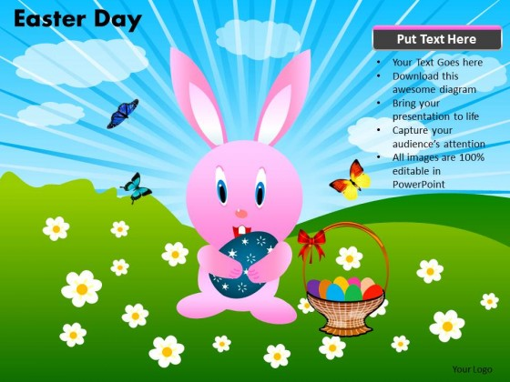 PowerPoint Template Chart Easter Day Ppt Slides
