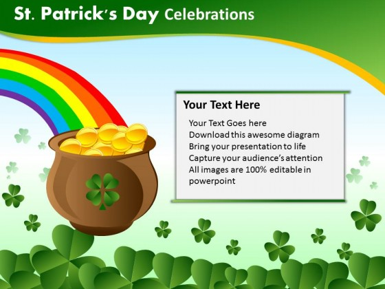 PowerPoint Template Chart Patricks Day Celebrations Ppt Slides
