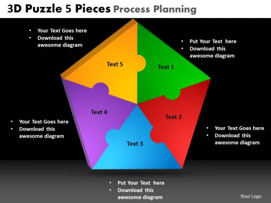 PowerPoint Template Chart Puzzle Process Ppt Slides
