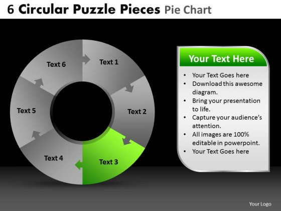 PowerPoint Template Diagram Circular Puzzle Ppt Slides