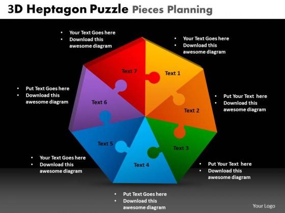 powerpoint template diagram puzzle planning ppt slides