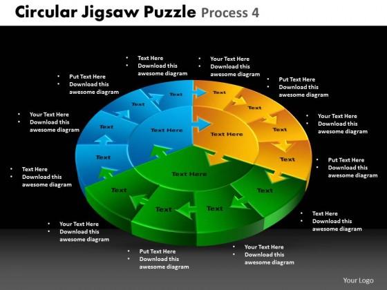 powerpoint template global circular jigsaw puzzle ppt slides, Modern powerpoint