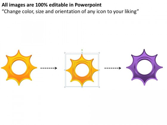 PowerPoint Template Graphic Circular Gears Process Ppt Slides