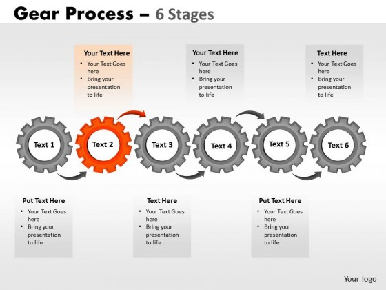 PowerPoint Template Graphic Gears Process Ppt Slides