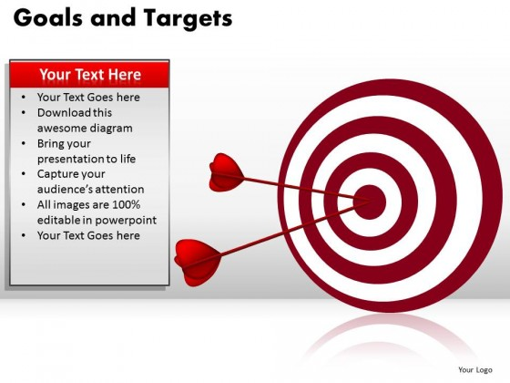 PowerPoint Template Image Goals And Targets Ppt Slides