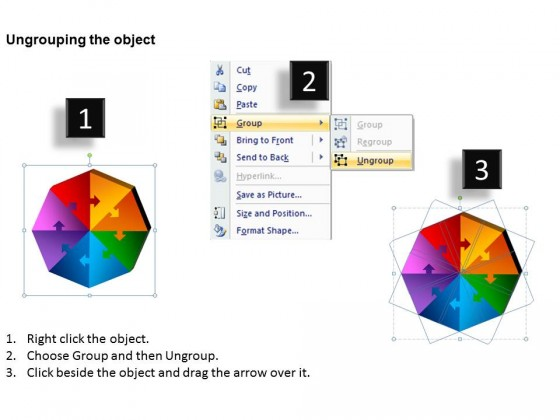 PowerPoint Template Image Octagon Puzzle Process Ppt Slides