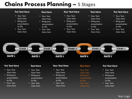 PowerPoint Template Leadership Chains Process Ppt Slides
