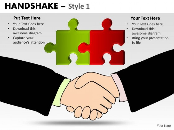 PowerPoint Template Leadership Handshake Ppt Slides