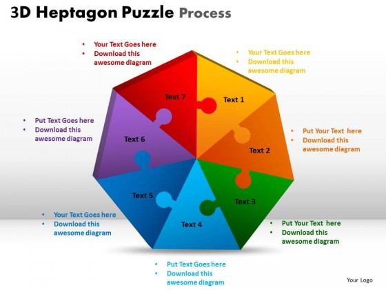 Powerpoint template leadership heptagon puzzle process ppt slides toneelgroepblik