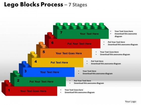 Powerpoint template leadership lego blocks process ppt slides toneelgroepblik Image collections