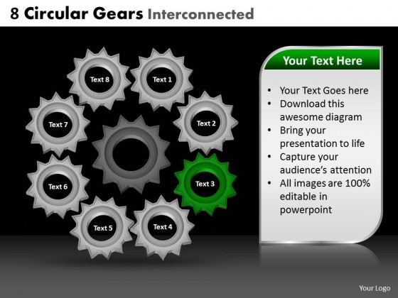 PowerPoint Template Marketing Circular Gears Ppt Slides