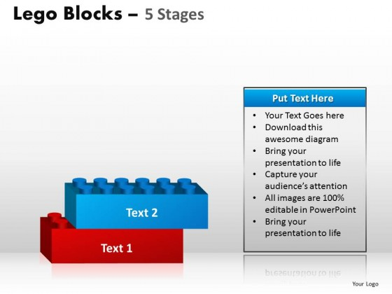 PowerPoint Template Marketing Lego Blocks Ppt Slides
