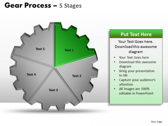 PowerPoint Template Process Gears Process Ppt Slides