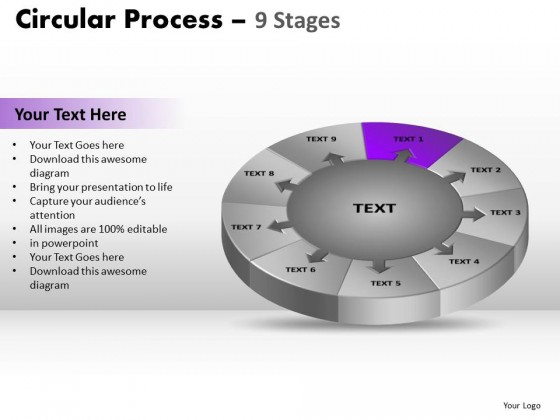 PowerPoint Template Sales Circular Process Ppt Slides