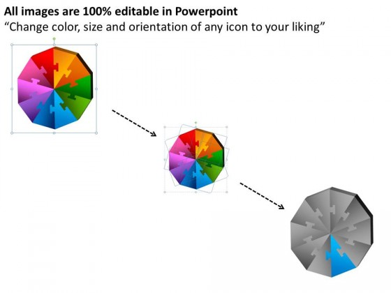 PowerPoint Template Strategy Decagon Puzzle Process Ppt Slides