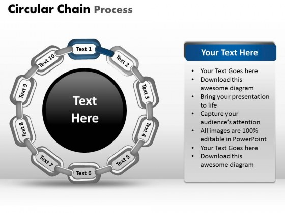 PowerPoint Template Success Circular Chain Process Ppt Slides