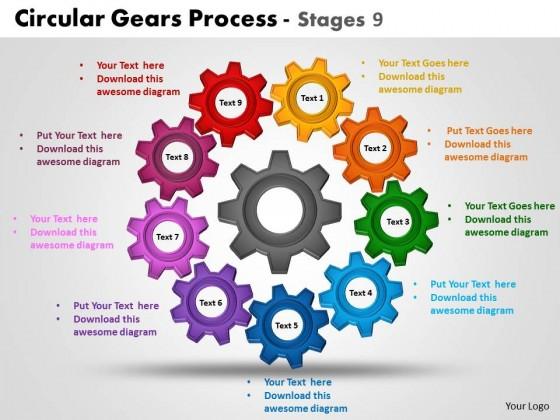 powerpoint template success circular gears process ppt slides, Modern powerpoint