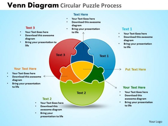 circles powerpoint diagrams, Modern powerpoint