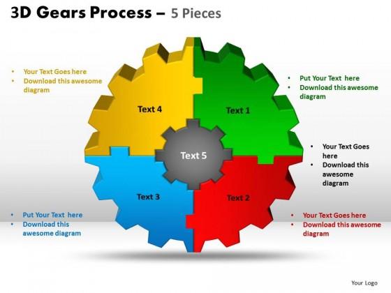powerpoint template teamwork gear process ppt slides, Modern powerpoint