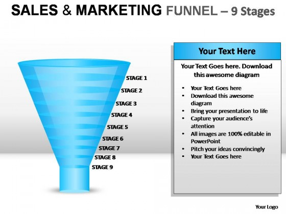 Sales And Marketing Funnel  Stages Powerpoint Presentation Slides