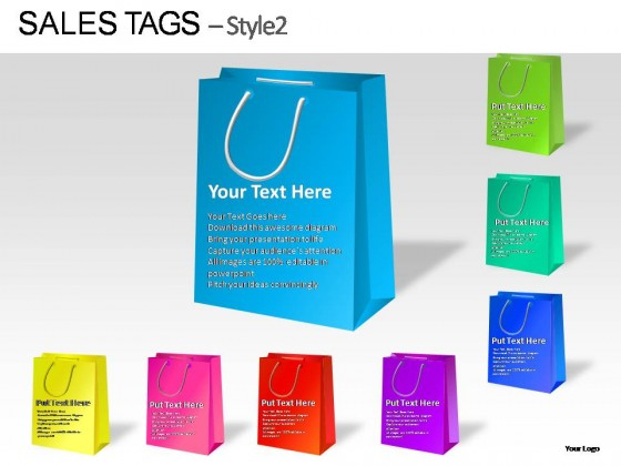 Sales Tags Style PowerPoint Presentation Slides - Sales presentation slides