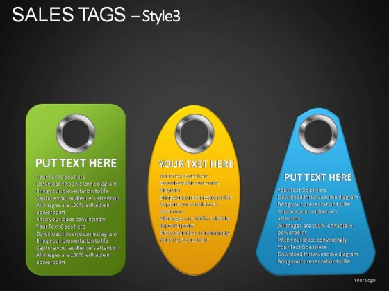 Sales Tags Style 3 PowerPoint Presentation Slides