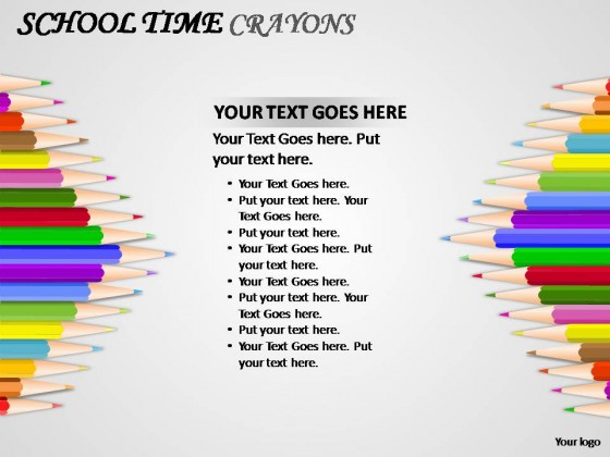 Time crayons powerpoint presentation slides school time crayons powerpoint presentation slides toneelgroepblik Images