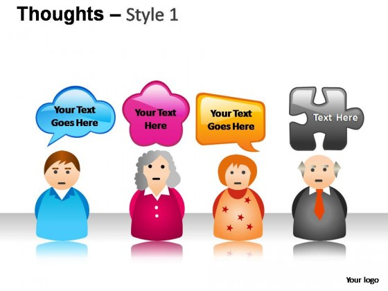 Thoughts Style 1 PowerPoint Presentation Slides