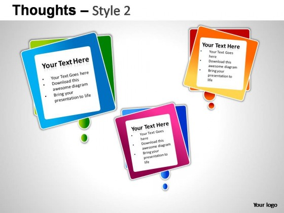 Thoughts Style 2 PowerPoint Presentation Slides
