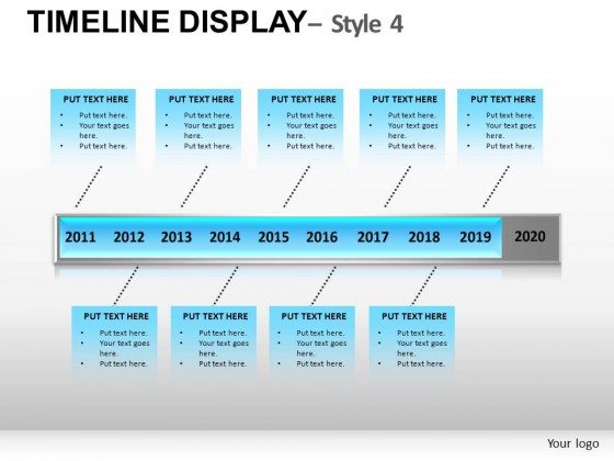 Timeline Display Style 4 PowerPoint Presentation Slides
