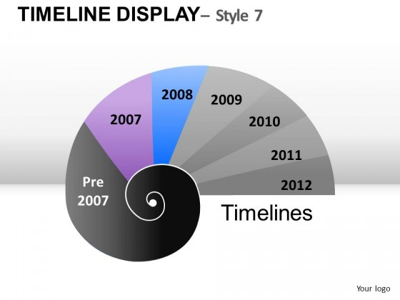 Timeline Display Style 7 PowerPoint Presentation Slides
